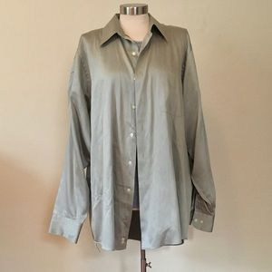 Geoffrey Beene XL Light Green Button Down Shirt